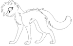 Cat Lineart by Shadowheart0