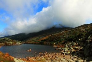 Mt Washington Summit in Clouds by Celem