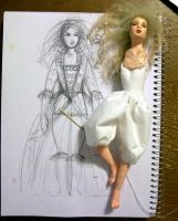 Doll and dress design by Rhissanna