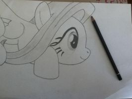 Fluttershy sketch! by Chrispy248