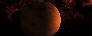 Milky way: Mars by Archange1Michael
