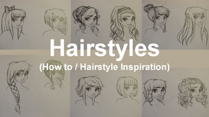 How to draw 12 different Hairstyles by SnowyMarriner
