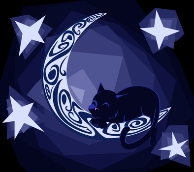 Moon Kitty by RevRuby