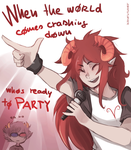 End of the world party by ikimaru-art