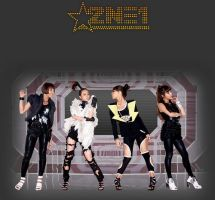 Space 2NE1 by DarkSoulKagome90
