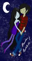 Marceline and Marshall Lee by RationalSporadicity