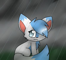 In  the rain by MillyTheTigerKitten