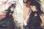 Black Lolita Dress by androoea