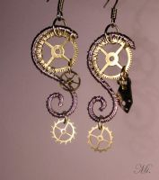 Steampunk earrings 15 by TheCraftsman