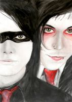 Gerard Way and Frank Iero by CoffeeNoise