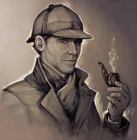 Tom as Sherlock by DafnaWinchester