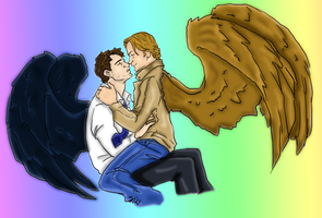 Brothers in arms and wings by Gabriel-loki