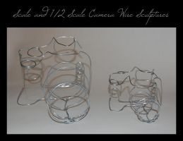 Scale Camera Wire Sculptures by xTwisTx