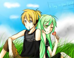 A Day in the Field [Len and Miku] by Miaka-Hyumi