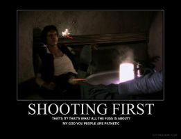 Shooting First Demotivational by jswv