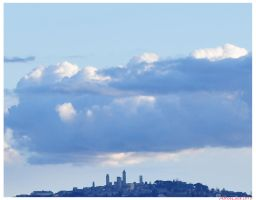Clouds over San Gimignano by AthosLuca