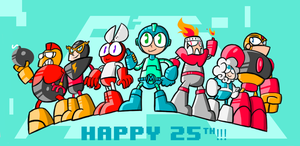 Megaman - 25th! by MattCarberry