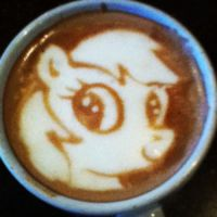 Rainbow Dash Latte by CappuccinoFrosting