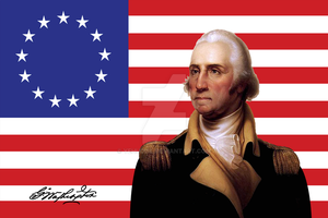 George Washington And Flag by YehudisL