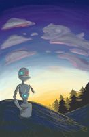 Loneliest Robot is Solitary by visiblespectre