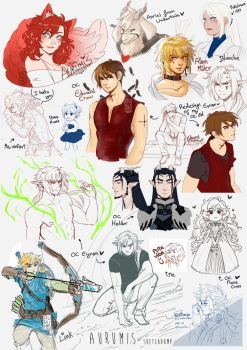 .: Sketchdump 4 :. by Aurumis