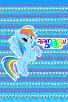 Rainbow Dash iPhone 4 Wallpaper by AceofPonies