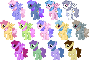 Rainbowshine/Dizzy Twister Recolors by SilverVectors
