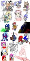 Sonic Scribble Compilation 1 by Disolution