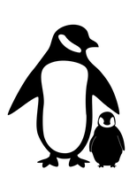 Penguin Silhouette by shaunqb