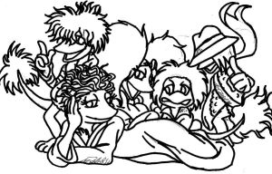 Fraggles Remix drawing by mohnman