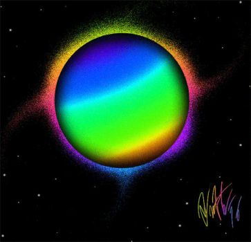 Colorful Planet (GIF) by T-Newton
