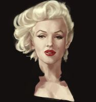 Marilyn Monroe by MANGBO