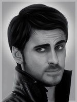Hook (Once Upon a Time) (Painting Mouse) by Antonio-Figueiredo
