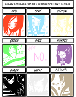Color Character Meme by MCTNOKS