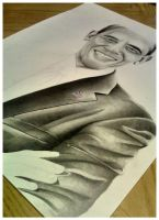 Drawing Obama by MontyKVirge