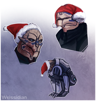 ME: Garrus vs santa hat by Weissidian