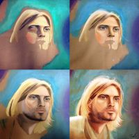 Kurt Cobain: Painting from start to finish by pseppy1
