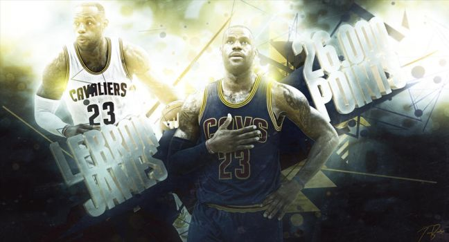 26,000 Career Points: LeBron James by HZ-Designs