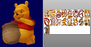 Winnie the Pooh Papercraft + Unfold by Sabi996