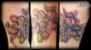 Oil painting stlye flower by state-of-art-tattoo