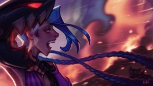 JINX - League of Legends Fanart by KNKL
