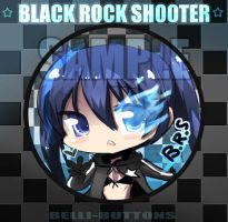 Black Rock Shooter button by jinyjin