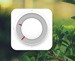 MIUI Square Clock 2 for xwidget by jimking