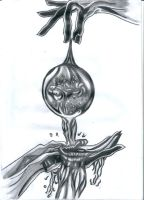 Flowing water final drawing by flaviudraghis