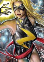 Ms. Marvel - Sketch Card by J-Redd