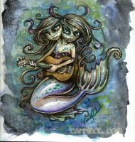 two head guitar mermaid by cannibol