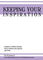 Keeping your Inspiration- Booklet by Tylon