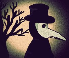 waiting for the plague doctor by Jettealyn