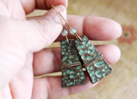Faux metal clay earrings. by earthexpressions