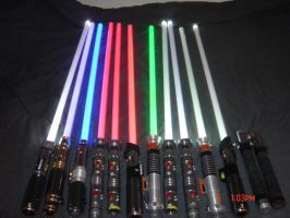 All My Star Wars Lightsabers 2 by t33b0n3